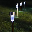 8白色LEDステンレス鋼ソーラーパワーライト屋外ガーデンの芝生の装飾ランプ(シス57267)