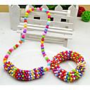 Dívčí Snowflake šperky Set (náhrdelník a náramek) (Random Color)