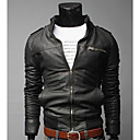 DD oblečení Móda Zipper Dekorativní Short Zeštíhlující Jacket (černé)