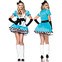 Cosplay Kostýmy Uniformy Festival/Svátek Halloweenské kostýmy Bílá / Modrá Patchwork Šaty / Čelenka Halloween / Karneval Bavlna / Terylen