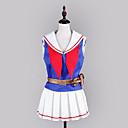 Inspirirana Kantai Collection Chōkai Video igra Cosplay nošnje Cosplay Suits / School Uniforms Kolaž Bijela / Plava Bez rukavaTop /