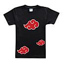 Inspirovaný Naruto Akatsuki Anime Cosplay kostýmy Cosplay T-shirt Tisk Czarny Krátké rukávy Trička