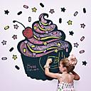 黒板の壁のステッカー、リムーバブル、おいしいカップケーキ