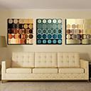 Reprodukce na plátně umění Abstraktní kruhy sada 3 ks