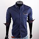 CUBFACE Muška Royal Blue Pocket dekoracija Shirt