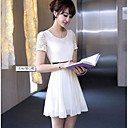 Ženska Proljeće Čipka kratkih rukava šifon haljina