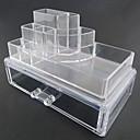 Kutija za šminku Plastična kutija / Kutija za šminku Plastika / Akril Jednobojni Quadrate 18.5 x 11.5 x 11.6 Neocakljen porculan