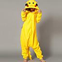 Kigurumi Pyžama Pika Pika Leotard/Kostýmový overal Festival/Svátek Animal Sleepwear Halloween Žlutá Patchwork polar fleece Kigurumi Pro