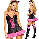 Cosplay Kostýmy / Kostým na Večírek Bunny Girls Festival/Svátek Halloweenské kostýmy Fialová Patchwork Šaty / Vlasové ozdoby / Límeček