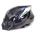 MOON Cyklistika modrá a černá PVC / EPS 16 otvory pro dorostence Light Cyklistická přilba