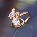 Minmin Dámské 18K Gold Zirkon prsten J0388