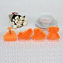 Plastična 3D Vogue stil CBRL Cookie plijesni Set od 4 kom