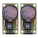 DS1302 Real Time Clock modul s CR2032 knoflíková baterie - černá + zelená (2ks)