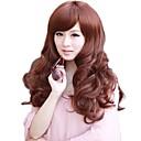 Žene moderan strana BANG sintetičke duge valovite perika 5 boja na raspolaganju