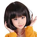 キャップレスボブ散髪スタイルキッズウィッグ(ブラック)