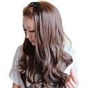 女性ファッションキャップレスの長い波状合成スタイリッシュなしバングウィッグ3色あり
