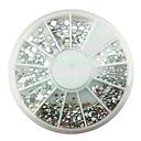 MIXSサイズアクリルシルバーホワイトダイヤモンドネイルアートの装飾