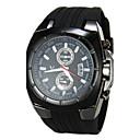 男性 軍用腕時計 日本産クォーツ シリコーン バンド ブラック ブランド- V6