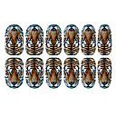 12PCS Tiger vzor Světelný Nail Art Samolepky