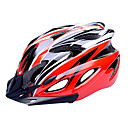 FJQXZ EPS + PC赤と黒一体成形サイクリングヘルメット(18ベント)