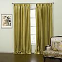 Dvije zavjese Moderna Jednobojni Zlato Living Room Polyester Panel zavjese Zavjese