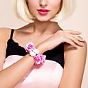 """Cvijeće za vjenčanje Krug Wrist Corsage Vjenčanje Party / Večernji Saten Fuksija 4.72 """"(Approx.12cm)"""