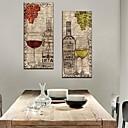 Ještě Reprodukce na plátně Art Life Víno a víno Sklenice Sada 2