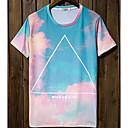 男性用 プリント カジュアル Tシャツ,半袖 コットン