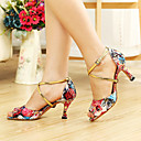 Može se prilagoditi - Ženske - Plesne cipele - Latin / Balska sala - Vještačka koža - Prilagođeno Heel - Crn / Fuksija