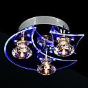 1.5 Flush Mount ,  Modern/Comtemporary Electroplated svojstvo for Crystal LED Metal Living Room Bedroom Dining Room