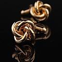 xinclubna® mondeno muškaraca zlato bakra čvorova dugme za manšetu (zlato) (1pair)