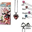 Jewelry Inspirirana Cosplay Cosplay Anime Cosplay Pribor Ogrlice Crvena / Plava / Ljubičasta / Roza Alloy Female