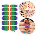 28PCS Glitter Gradient Ramp Nail Art Samolepky M Series No.118