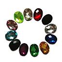 24ks Mixs Color Glitter Oval drahokamu Nail Art Dekorace