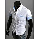 栄光のシャツの襟袖口半袖コントラストカラーシャツつ折り