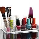 メイク用品収納 化粧品箱 / メイク用品収納 プラスチック / アクリル ゼブラプリント 17x10x6.5 ビスク