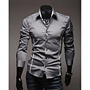 Men's Shirt Collar Casual Shirts , Cotton / Cotton Blend Long Sleeve Casual Fashion Spring / Fall YTFT