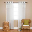 Jeden panel Window Léčba Země , Jednolitý Obývací pokoj Polyester Materiál Sheer Záclony Shades Home dekorace For Okno