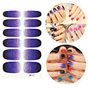 28PCS Glitter Gradient Ramp Nail Art Samolepky M Series NO.117
