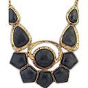angelasex trend punková drahokam náhrdelník (černá)
