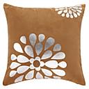 カジュアルな花ポリエステル装飾的な枕カバー