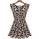 seasoncity® ženska rukava leopard print nabrane haljina