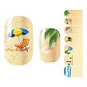 28PCS Cartoon pješćane plaže dizajn Nail Art Naljepnice
