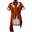 Inspirirana Ljubav uživo Kotori Minami Anime Cosplay Kostimi Cosplay Suits Kolaž Crvena Kratki rukav Top / Suknja