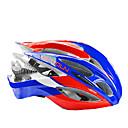 boodun 21通気口赤、青のロードバイクに一体成形されたサイクリングヘルメット(56〜62センチメートル)