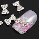 10pcs Bling dijamant Bowtie metalne legure 3d nail art ukras