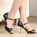 Non Přizpůsobitelné - Dámské - Taneční boty - Latina / Taneční sál - Koženka - Podpatek na míru - Černá