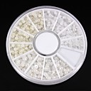 Velikosti 1200pcs mix bílá&hřebík slonová kost pearl kolo umění dekorace