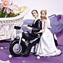 Figurky na svatební dort Nepřizpůsobeno Klasický pár / Vozidlo Pryskyřice Svatba / Párty pro nevěstu Bílá / ČernáZahradní motiv /