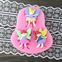 tři dívky s křídlem pečení fondán dort plísně, l7.4cm * w6.7m * h1cm
